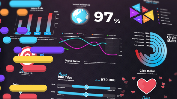 Infographic kinetic typography