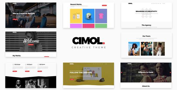 Cimol - Responsive One Page & Multi Page Portfolio Theme by ridianur