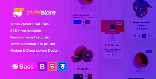 Pixelstore - eCommerce HTML5 Template by CodeThemes   ThemeForest