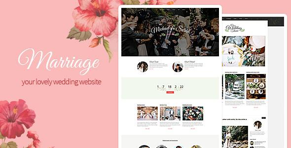 Marriage - Responsive Wedding Wordpress Theme by SmartTemplates ...