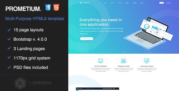 Prometium - Multi-Purpose HTML5 Template by KL-Webmedia   ThemeForest