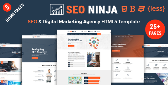 seo ninja seo company seo digital marketing agency html template by rs theme. Black Bedroom Furniture Sets. Home Design Ideas