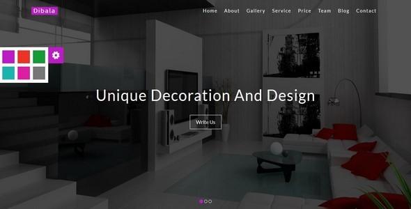 DibalaInterior and Architecture HTML5 Template by themebazar
