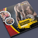 Fitness Square Bifold Broch-Graphicriver中文最全的素材分享平台
