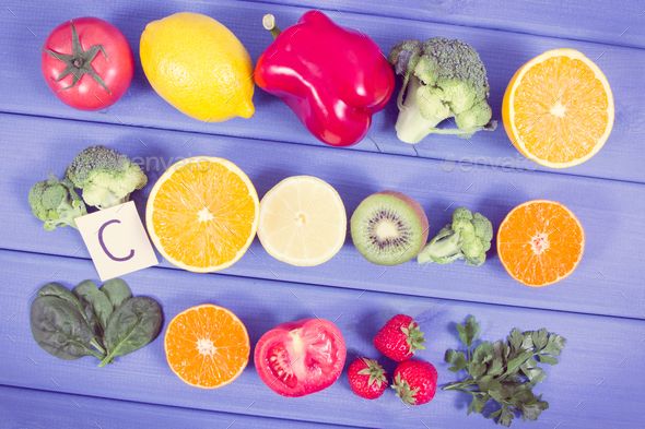 Fruits and vegetables containing vitamin c and natural minerals fruits and vegetables containing vitamin c and natural minerals stock photo images workwithnaturefo