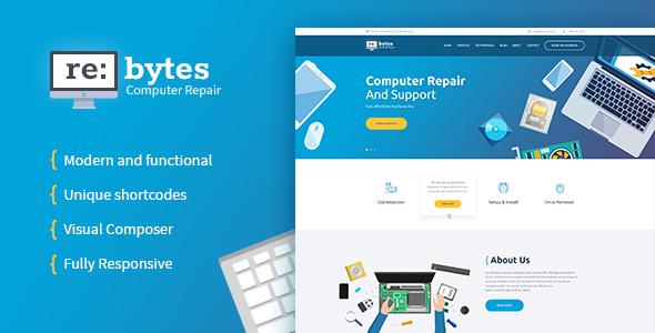 Re:bytes   Computer Repair Service WordPress Theme by AncoraThemes