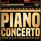 Piano Concerto Flyer Template V2-Graphicriver中文最全的素材分享平台