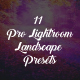 11 Pro Lightroom Landscape -Graphicriver中文最全的素材分享平台