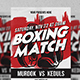 Boxing Match Flyer Vol.2-Graphicriver中文最全的素材分享平台