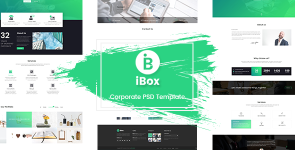 Ibox corporate business psd template by themesflat themeforest ibox corporate business psd template corporate psd templates wajeb Choice Image