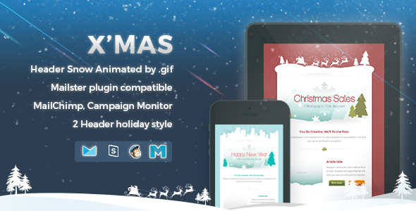 Xmas Responsive Email Template By Nutzumi ThemeForest - Mailchimp template variables