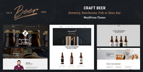 Craft beer brewery or pub wordpress theme by boldthemes