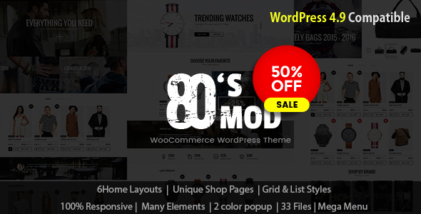 80\'s Mod - Build Your Store with A Vintage Styled WooCommerce ...