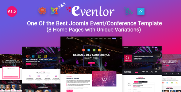 Eventor conference event joomla template by tripples themeforest pronofoot35fo Gallery