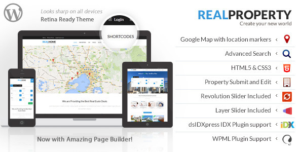 Real Property - Responsive Real Estate WP Theme by designthemes ...