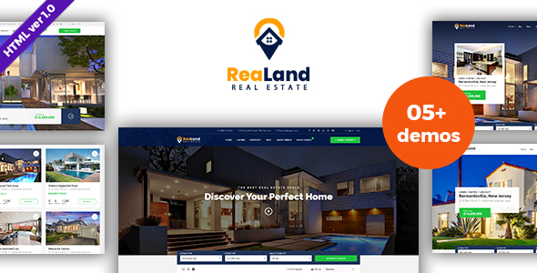 ReaLand - Real Estate HTML Template by haintheme | ThemeForest on maryland logo design, realtor logo design, housing works logo design, non-profit organizations logo design, home inspection logo design, publishing house logo design, property management logo design, search logo design, apartment logo design, building logo design, key logo design,