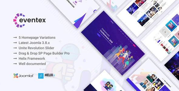 Eventex event meeting conference joomla template by ithemeslab pronofoot35fo Gallery