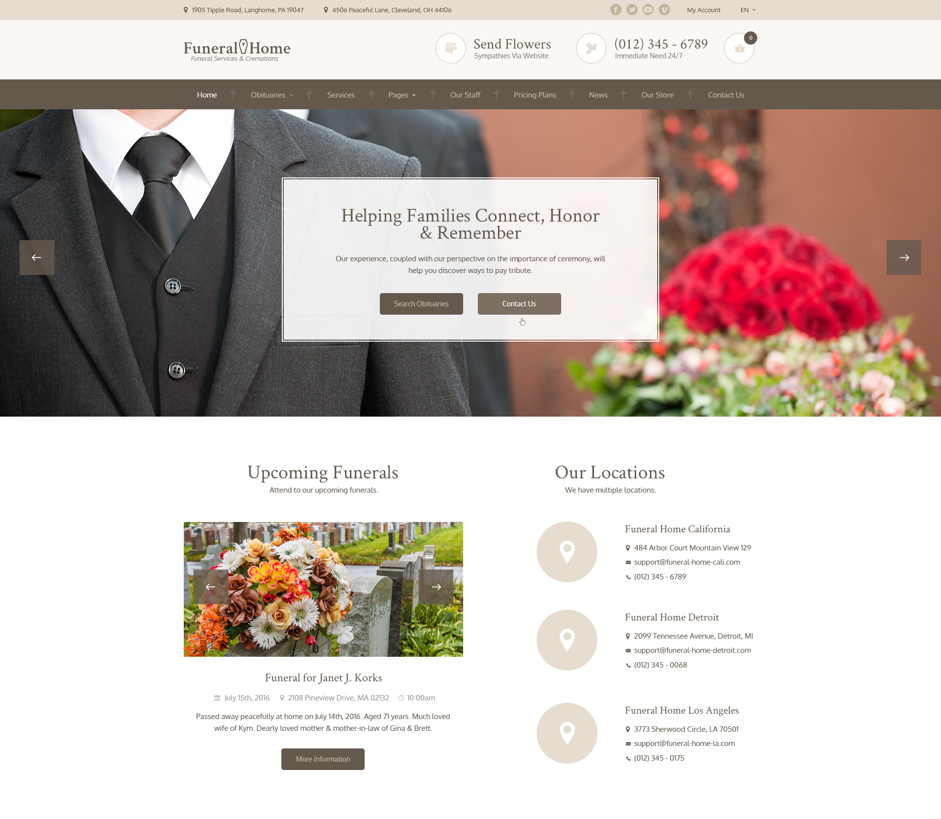 Tags:FuneralNet Custom Funeral Home Website Design Obituaries,Home Ideal Funeral  Parlor,