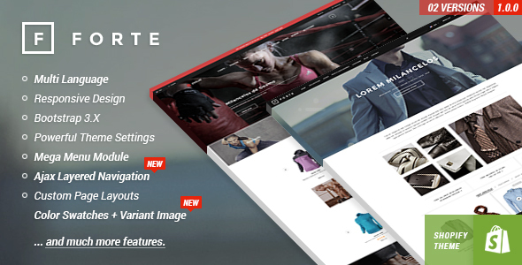 FORTE Responsive Shopify Template By Halothemes ThemeForest - Shopify template language