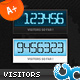 Digital Visitor Hit Counter 01 AS3