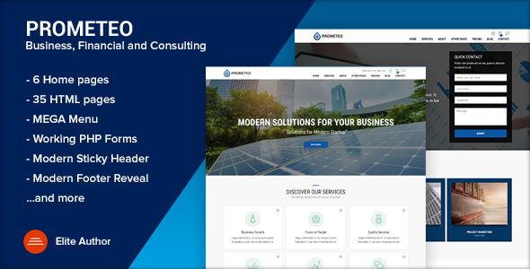 PROMETEO Business Financial And Consulting Site Template By Ansonika - Html site template