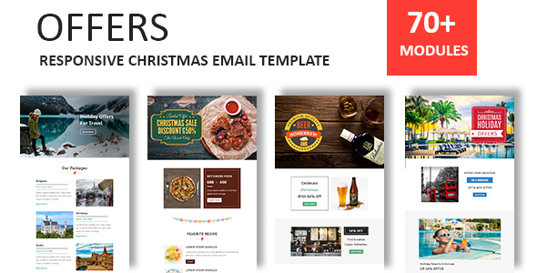 offers responsive christmas email newsletter template with