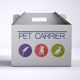 Pet Carrier Cardboard Box M-Graphicriver中文最全的素材分享平台