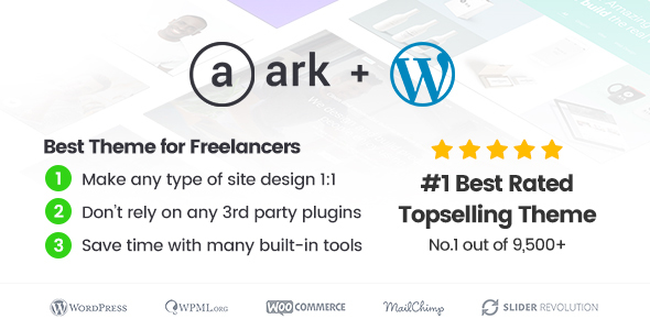 The Ark | WordPress Theme made for Freelancers by FRESHFACE ...