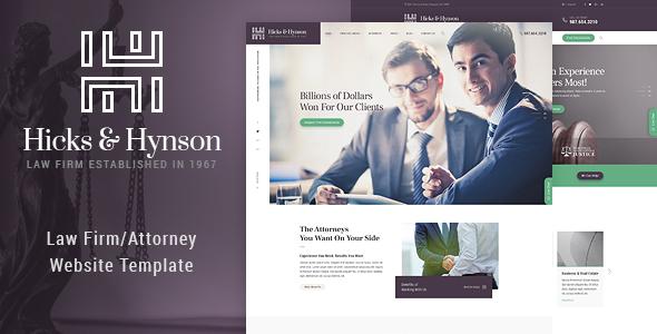 Hicks & Hynson - Law Firm HTML Template by Monkeysan | ThemeForest