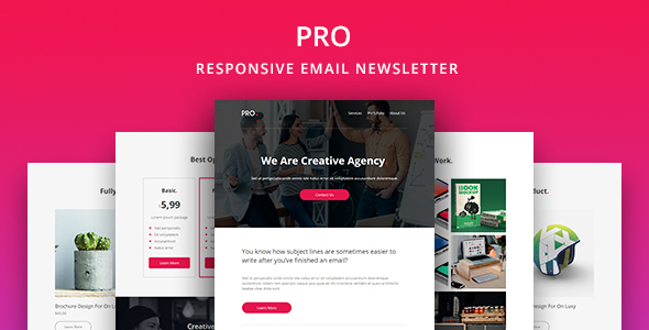 Pro  Agency Email Newsletter Template By Yemail  Themeforest