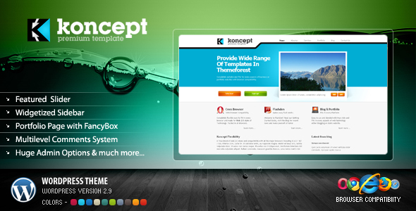 Theme forest: Koncept  – WordPress Theme