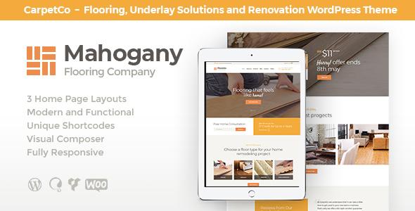 Mahogany   Flooring Company WordPress Theme by ThemeREX   ThemeForest