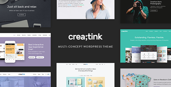 Creatink - Multi-Concept Responsive WordPress Theme by tommusrhodus