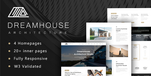dreamhouse architecture interior design template business corporate - Interior Design Pages