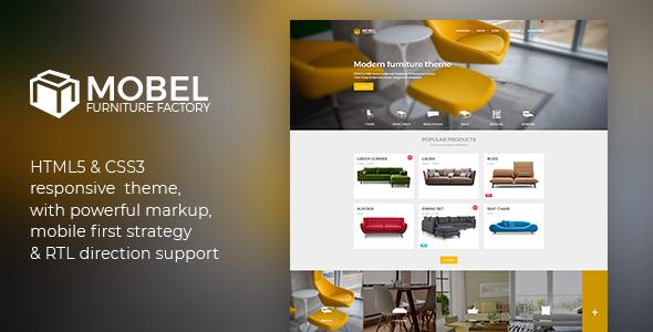 Mobel Furniture HTML Template By ElaThemes ThemeForest