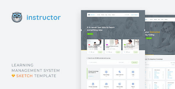 Instructor — Learning Management System and Education Sketch ...