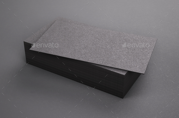 3d Rendering Of Business Card Blank Template Black Business Cards