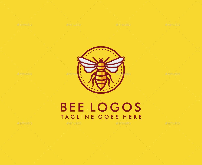 Honey bee logo design