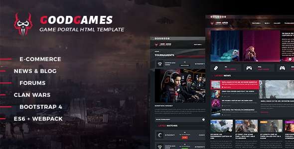 Good Games - Portal / Store HTML Gaming Template by _nK | ThemeForest