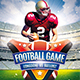 Football Game Flyer-Graphicriver中文最全的素材分享平台