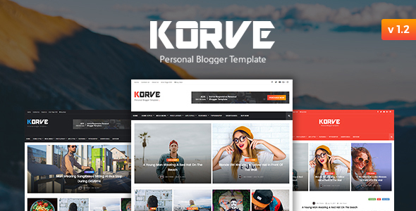 Korve - Personal Blogger Template by mix-theme | ThemeForest