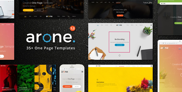 Arone - One Page Parallax by themesindustry | ThemeForest