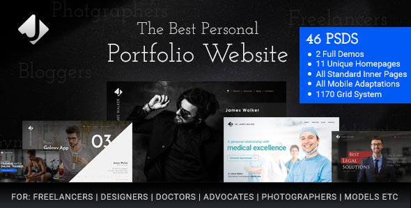 James walker personal freelance website by osumstudio themeforest james walker personal freelance website psd templates pronofoot35fo Image collections