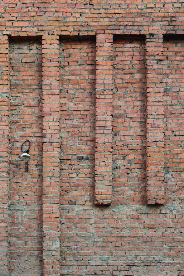 Old Brick Part - 37: Lantern On An Old Brick Wall - Stock Photo - Images