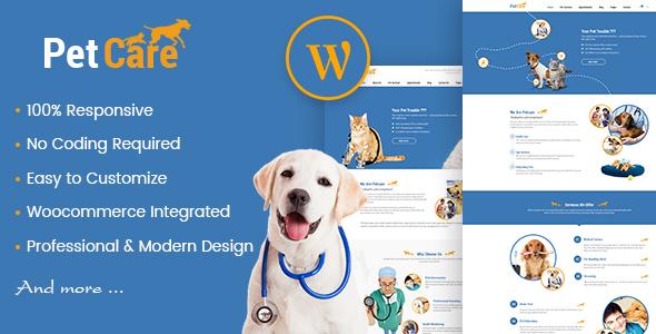 Petcare - Pet Shop and Pet Care WordPress Theme by amytheme ...