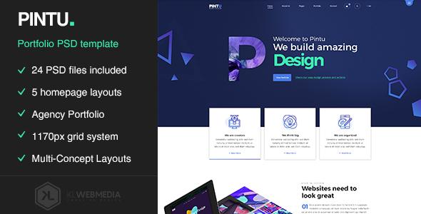 Pintu - Portfolio PSD template by KL-Webmedia | ThemeForest