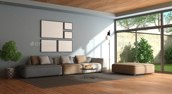 Minimalist Living Room   Stock Photo   Images