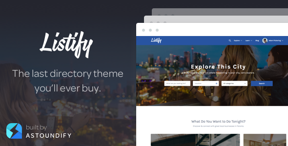 Listify - WordPress Directory Theme by Astoundify | ThemeForest