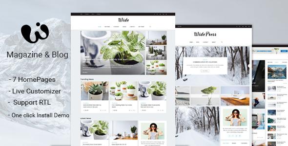 Wide - Magazine & Blog WordPress Themes by nmc2010 | ThemeForest