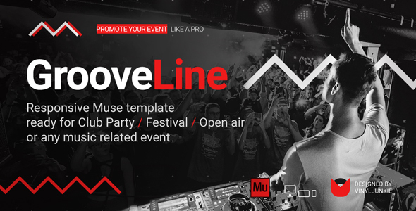 GrooveLine - Music Event Festival DJ Party Responsive Muse Template